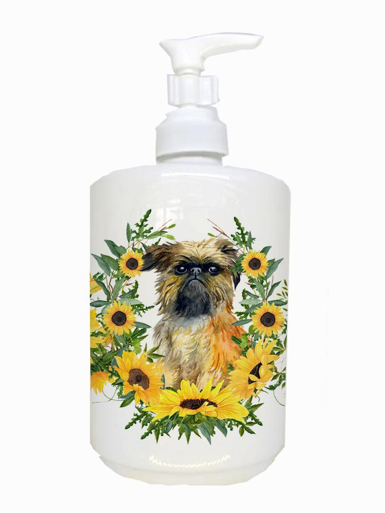 Buy this Brussels Griffon Ceramic Soap Dispenser CK2879SOAP