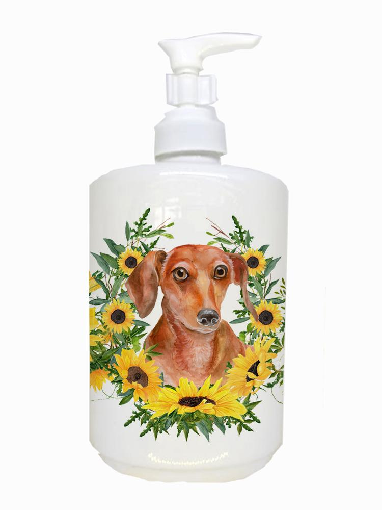 Red Dachshund Ceramic Soap Dispenser CK2899SOAP by Caroline's Treasures