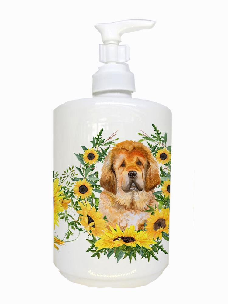 Tibetan Mastiff Ceramic Soap Dispenser CK2913SOAP by Caroline's Treasures