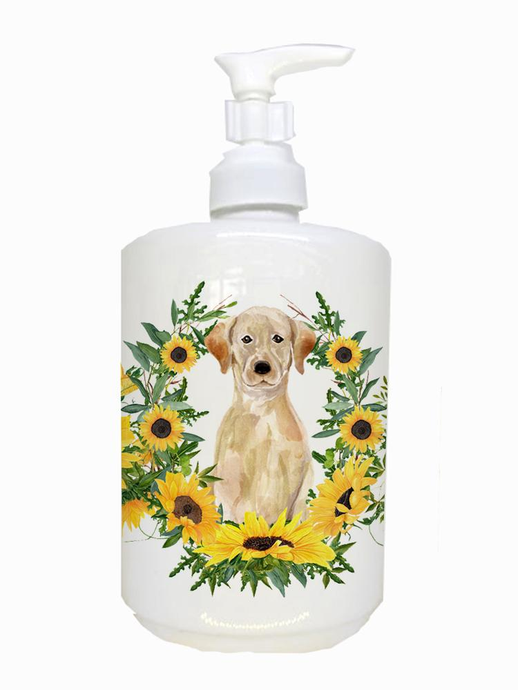 Buy this Yellow Labrador Retriever Ceramic Soap Dispenser CK2919SOAP