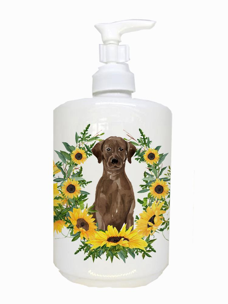 Buy this Chocolate Labrador Retriever Ceramic Soap Dispenser CK2921SOAP