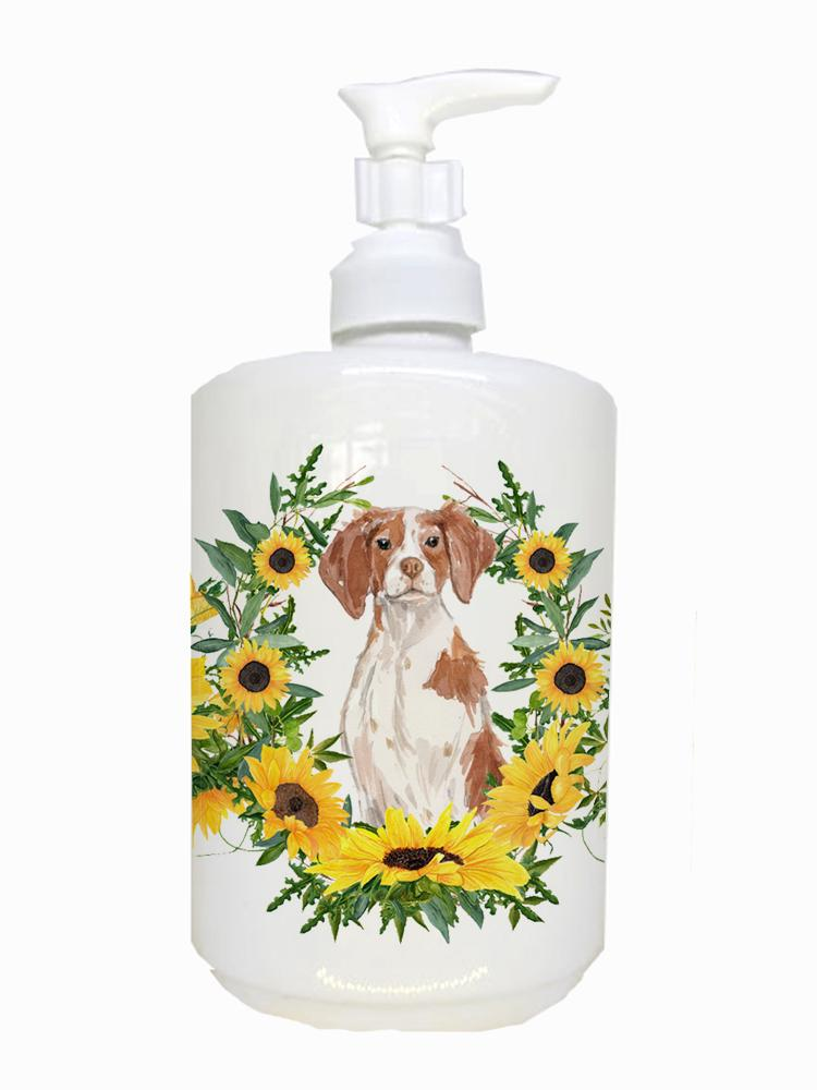 Brittany Spaniel Ceramic Soap Dispenser CK2922SOAP by Caroline's Treasures