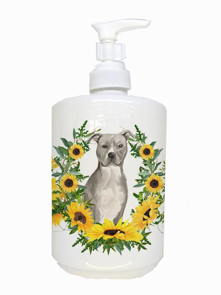Staffordshire Bull Terrier Ceramic Soap Dispenser CK2926SOAP by Caroline's Treasures