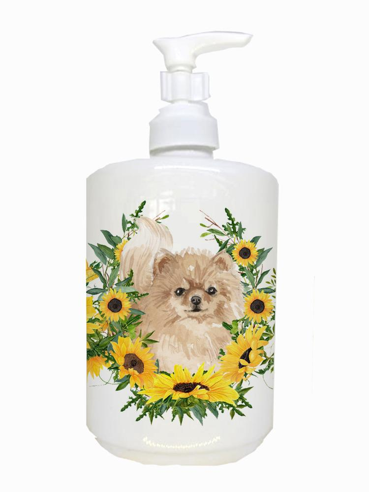 Pomeranian Ceramic Soap Dispenser CK2932SOAP by Caroline's Treasures