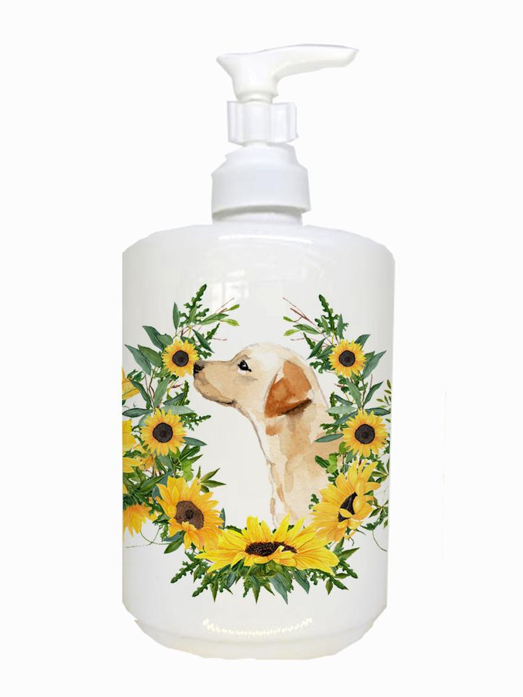 Yellow Labrador #2 Ceramic Soap Dispenser CK2935SOAP by Caroline's Treasures