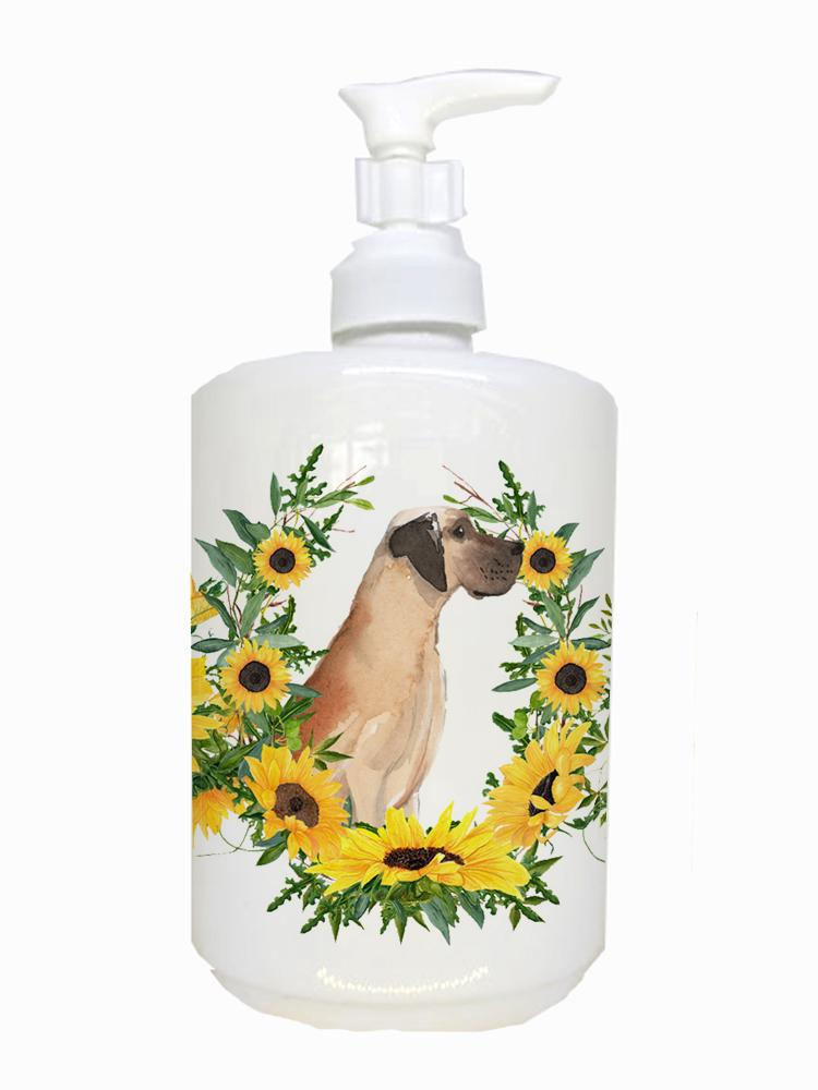 Fawn Natural Great Dane Ceramic Soap Dispenser CK2938SOAP by Caroline's Treasures
