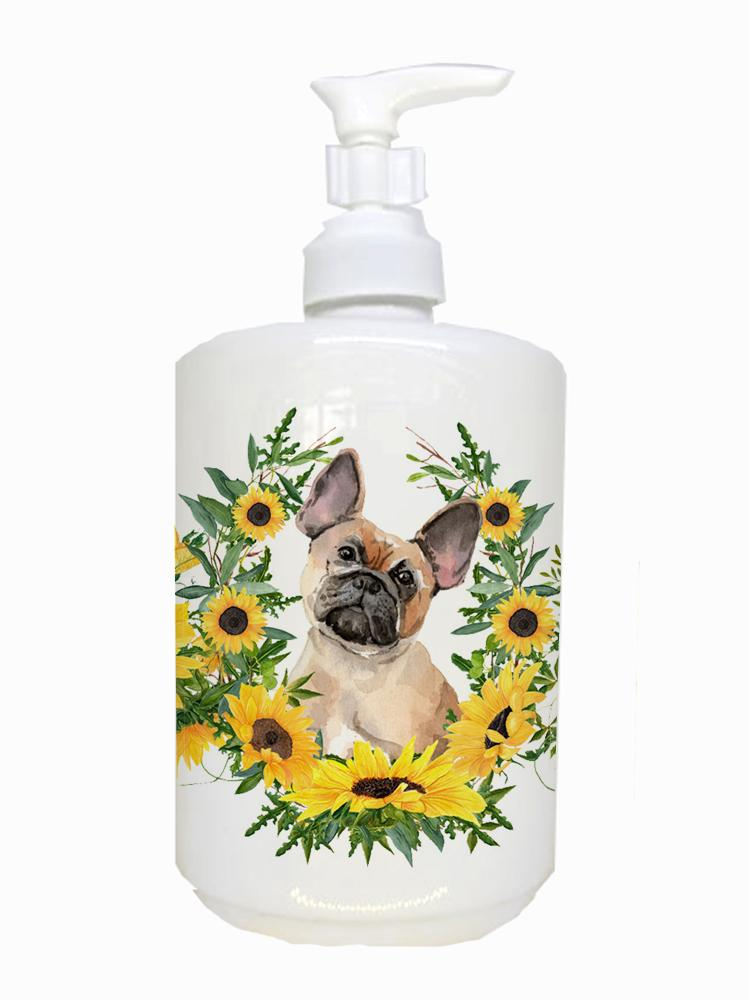 Buy this Fawn French Bulldog Ceramic Soap Dispenser CK2940SOAP