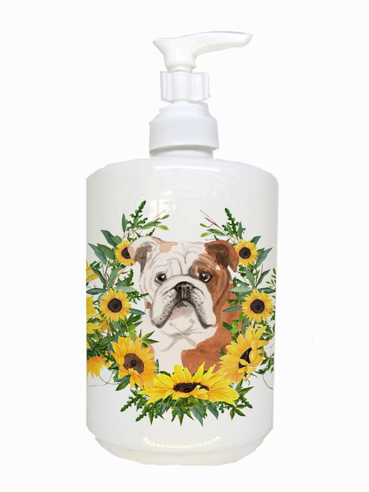 Buy this English Bulldog Ceramic Soap Dispenser CK2941SOAP