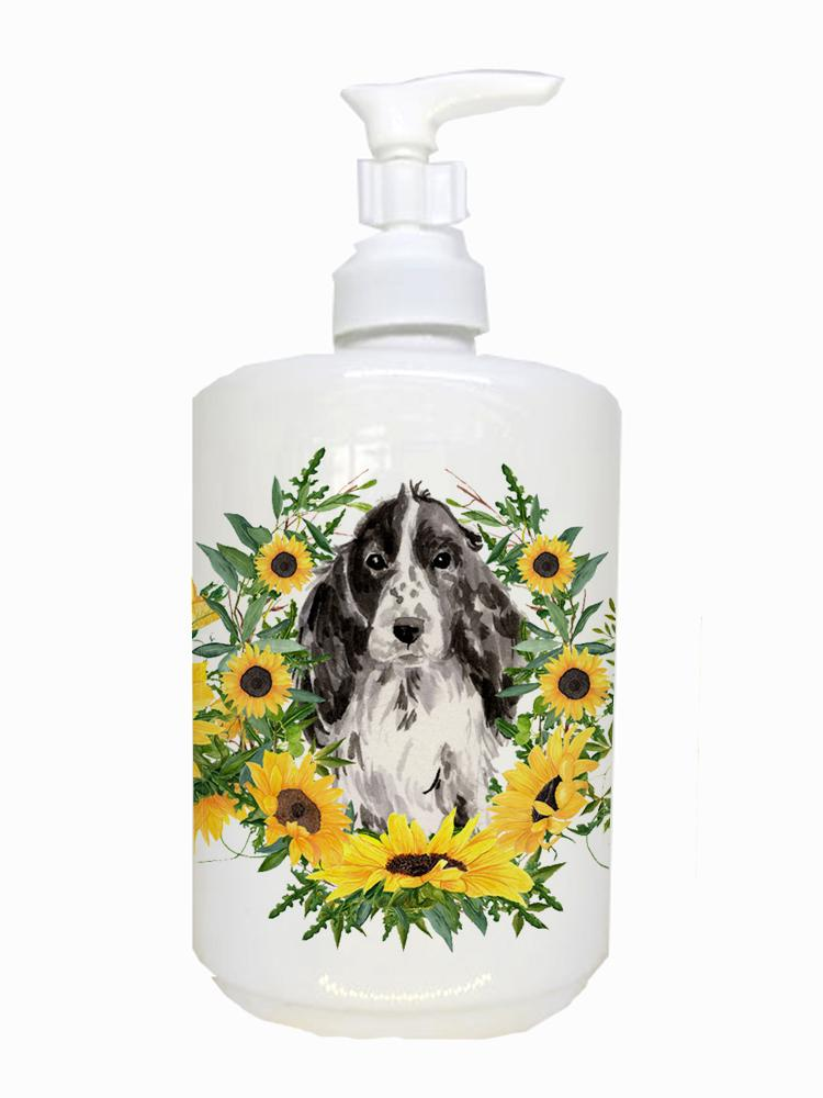Buy this Black Parti Cocker Spaniel Ceramic Soap Dispenser CK2944SOAP