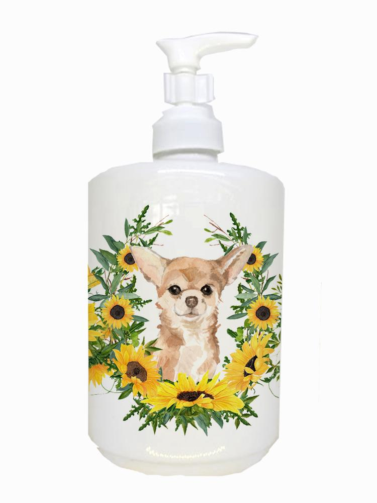 Buy this Chihuahua Ceramic Soap Dispenser CK2945SOAP