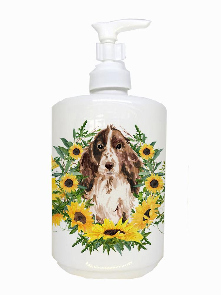 Buy this Brown Parti Cocker Spaniel Ceramic Soap Dispenser CK2947SOAP