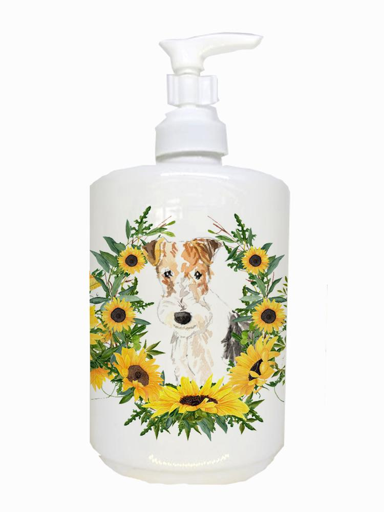 Buy this Fox Terrier Ceramic Soap Dispenser CK2954SOAP