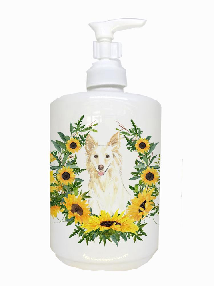 Buy this  White Collie Ceramic Soap Dispenser CK2955SOAP