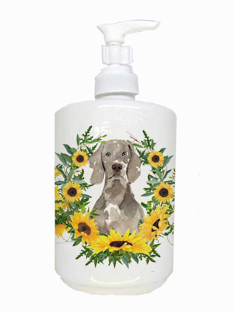 Weimaraner Ceramic Soap Dispenser CK2957SOAP by Caroline's Treasures