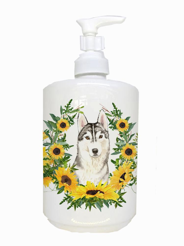 Buy this Siberian Husky Ceramic Soap Dispenser CK2959SOAP