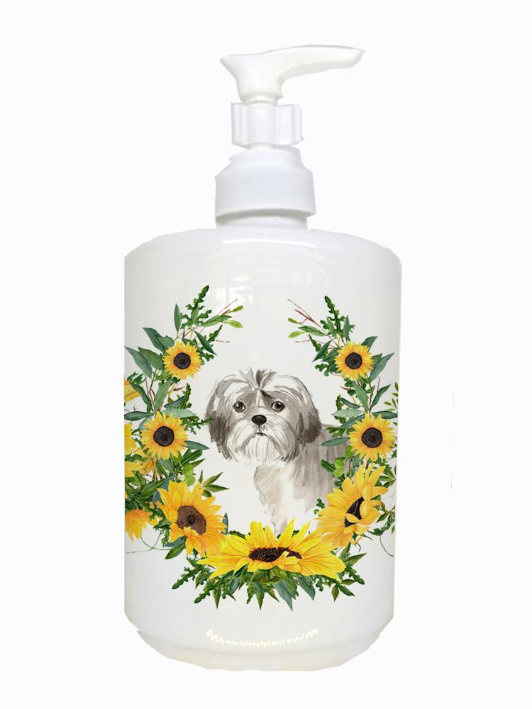 Buy this Shih Tzu Puppy Ceramic Soap Dispenser CK2960SOAP