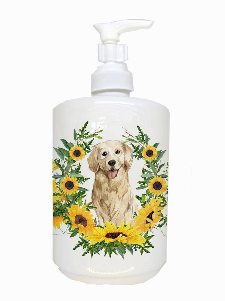 Buy this Golden Retriever Ceramic Soap Dispenser CK2976SOAP