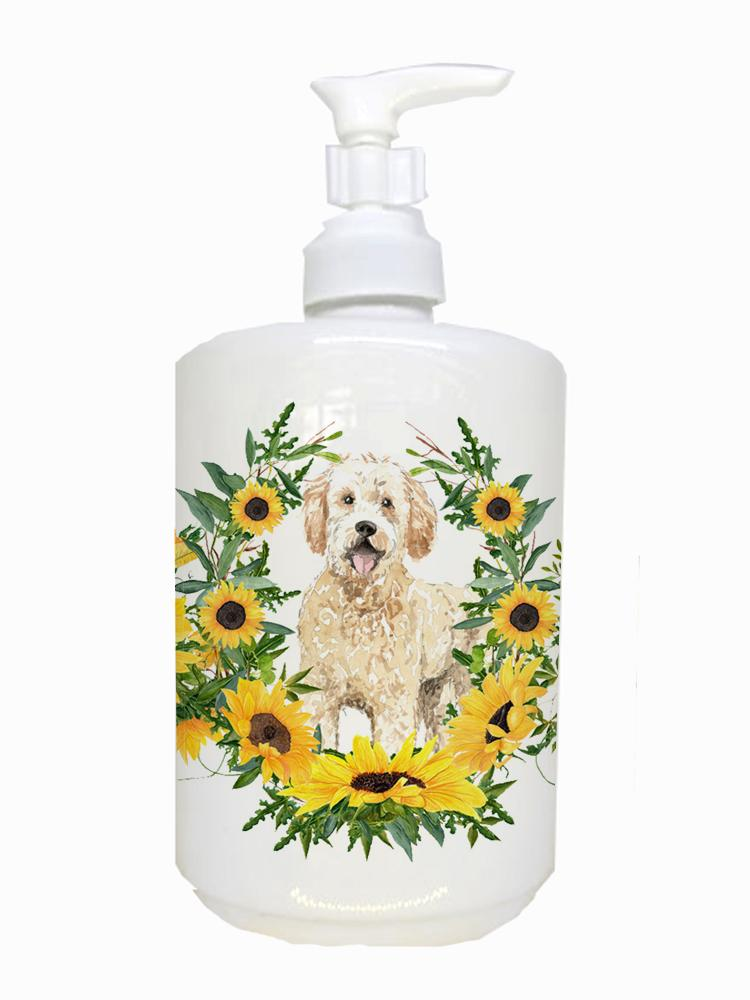 Buy this Goldendoodle Ceramic Soap Dispenser CK2977SOAP