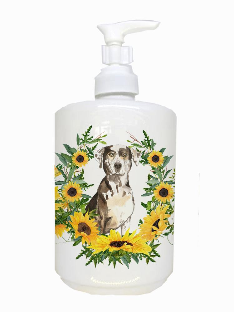 Buy this Catahoula Leopard Dog Ceramic Soap Dispenser CK2980SOAP