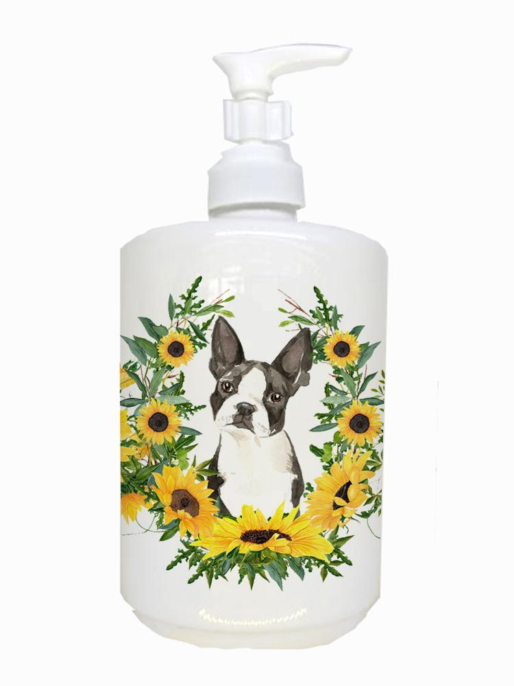 Buy this Boston Terrier Ceramic Soap Dispenser CK2984SOAP