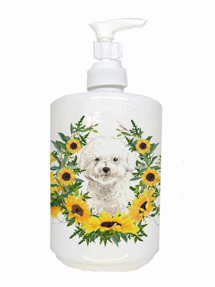 Buy this Bichon Frise Ceramic Soap Dispenser CK2986SOAP