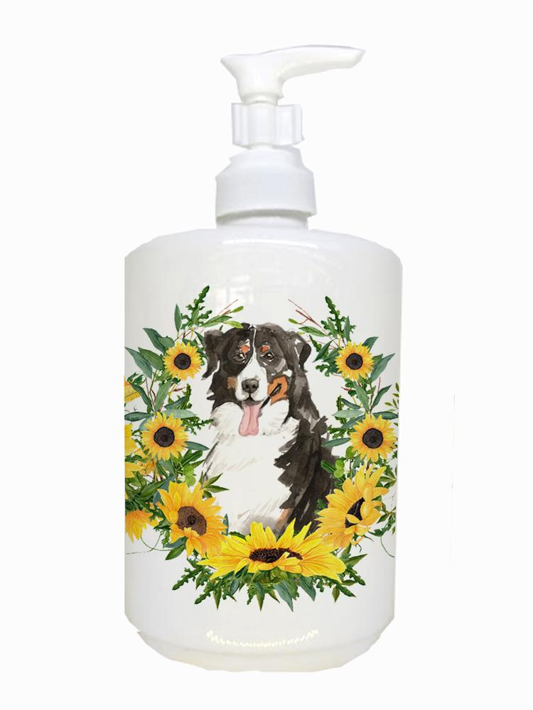 Buy this Bernese Mountain Dog Ceramic Soap Dispenser CK2987SOAP
