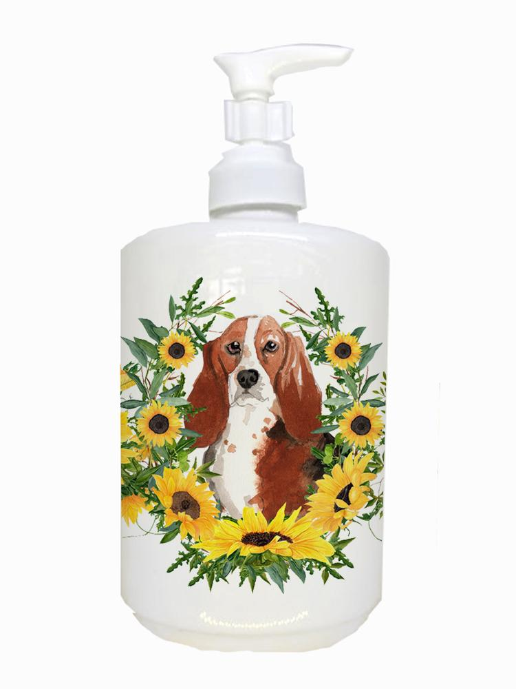 Buy this Basset Hound Ceramic Soap Dispenser CK2988SOAP
