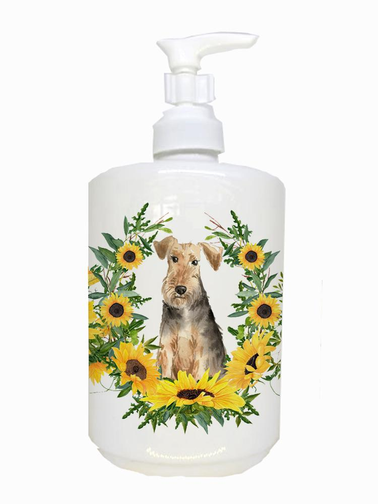 Buy this Airedale Terrier Ceramic Soap Dispenser CK2989SOAP