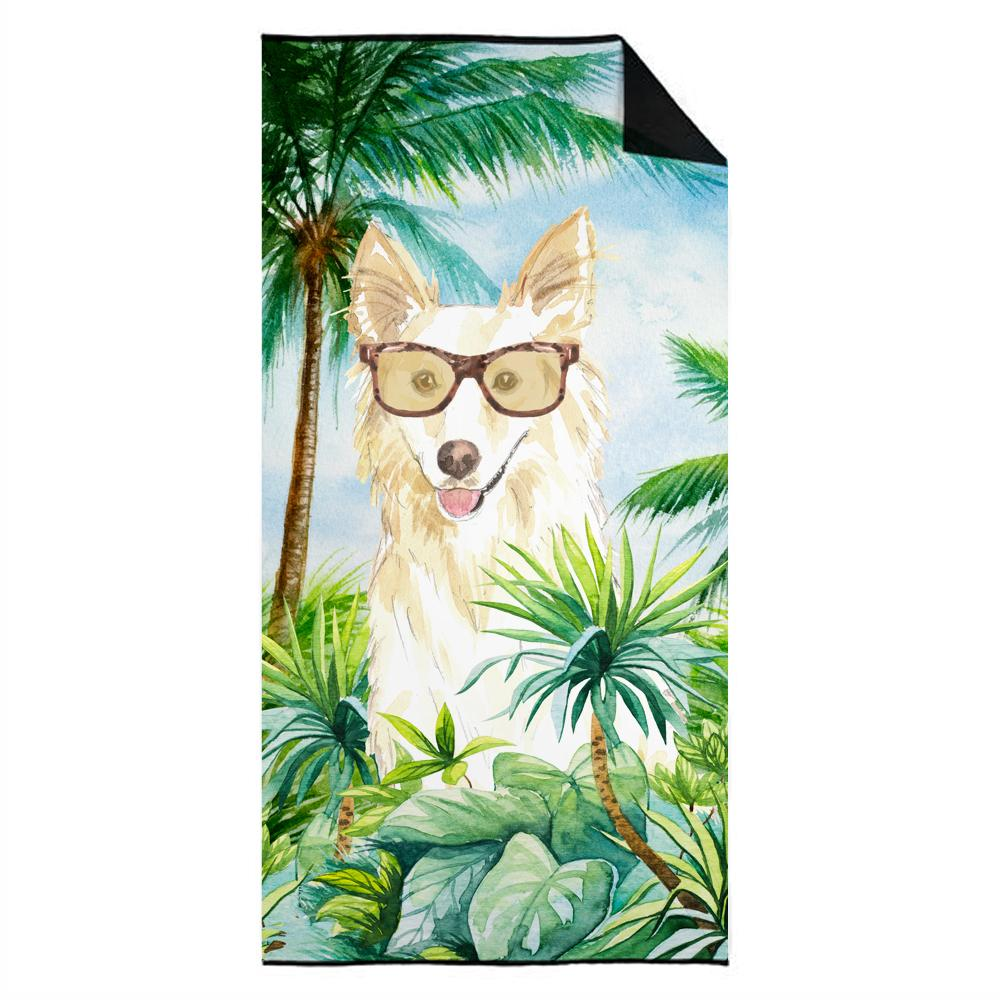 Buy this  White Collie Premium Beach Towel CK2992TWL3060