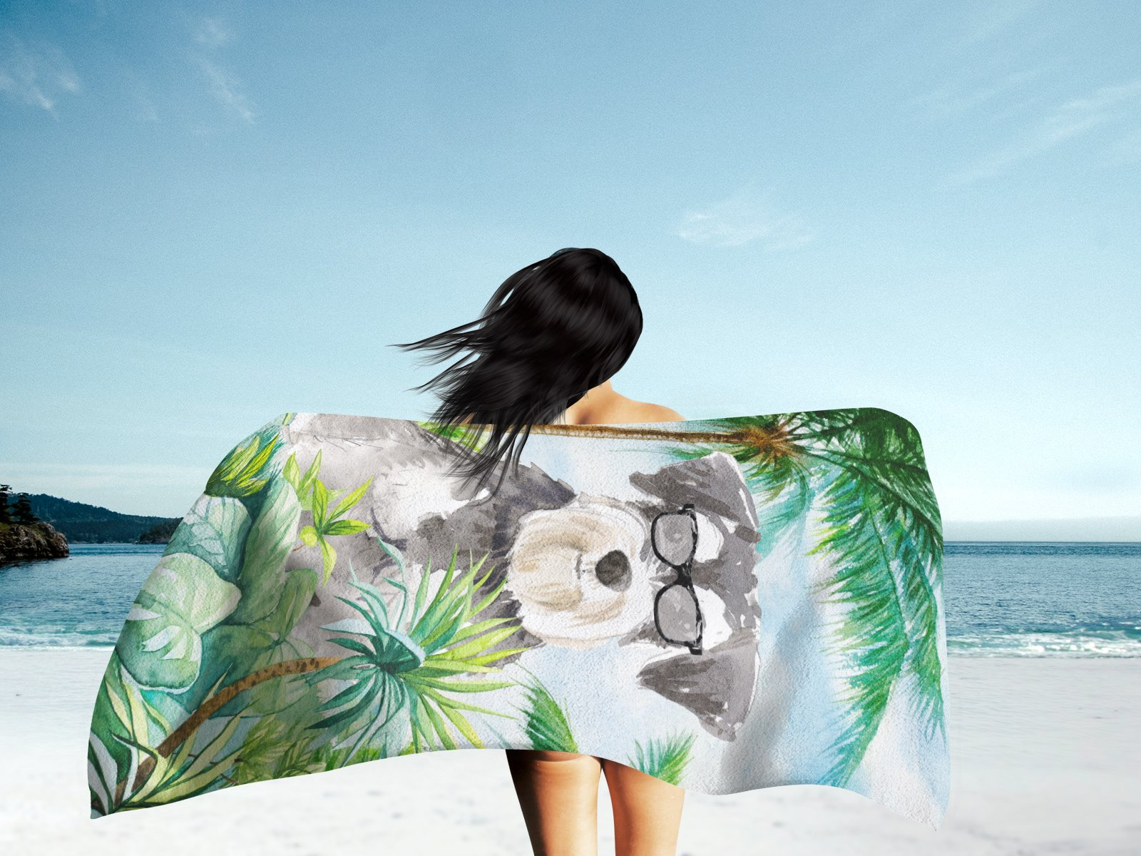 Schnauzer #2 Premium Beach Towel CK3006TWL3060 by Caroline's Treasures