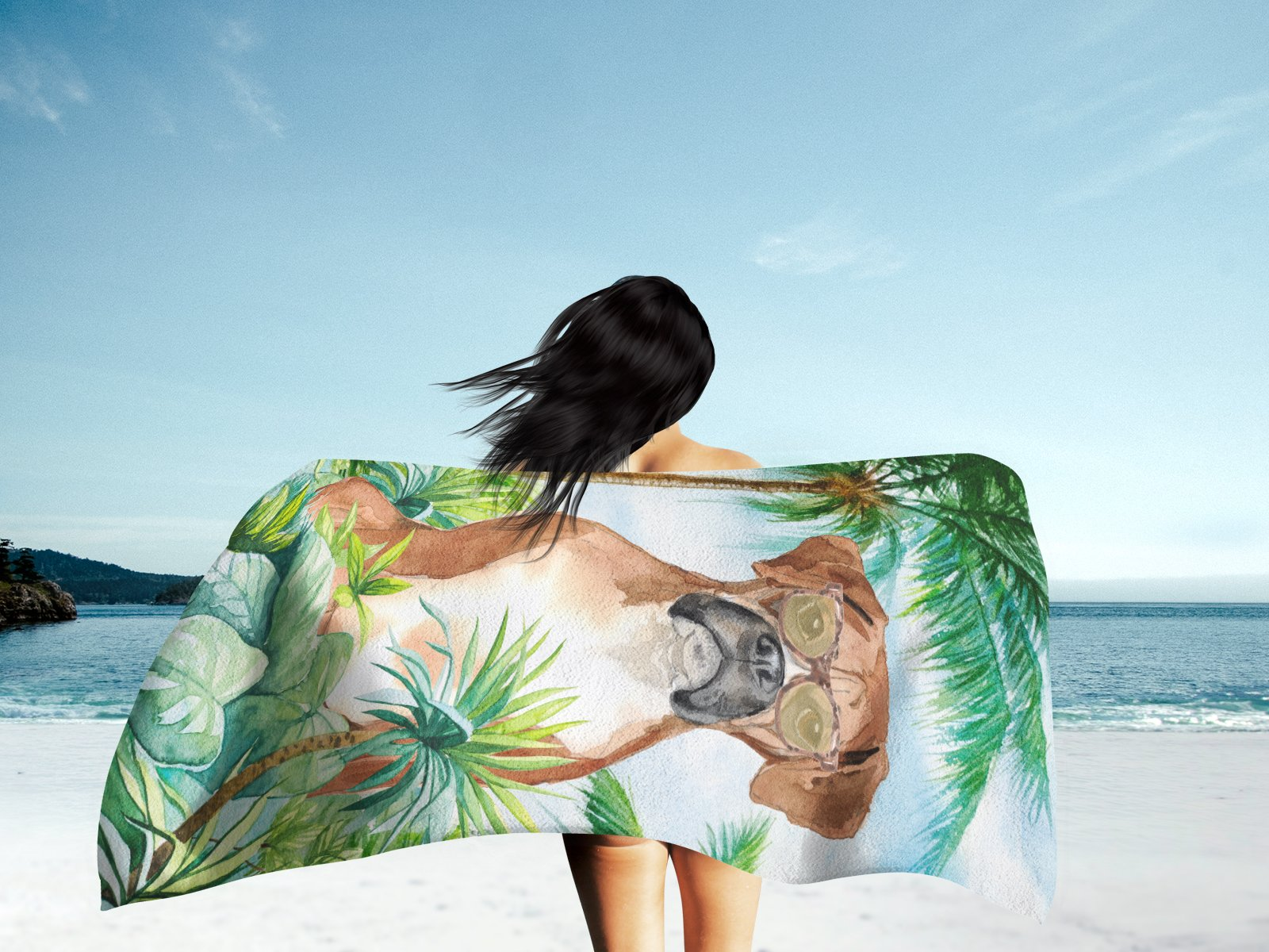 Boxer Premium Beach Towel CK3020TWL3060 by Caroline's Treasures
