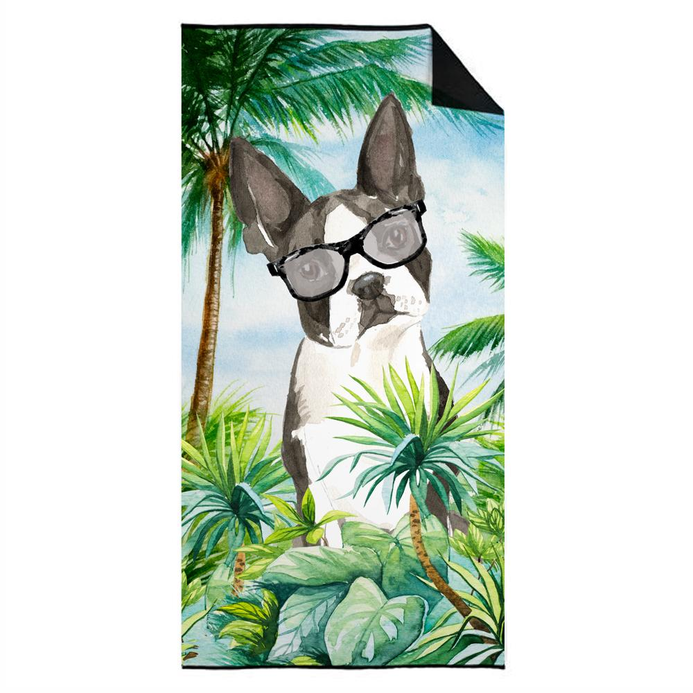 Boston Terrier Premium Beach Towel CK3022TWL3060 by Caroline's Treasures