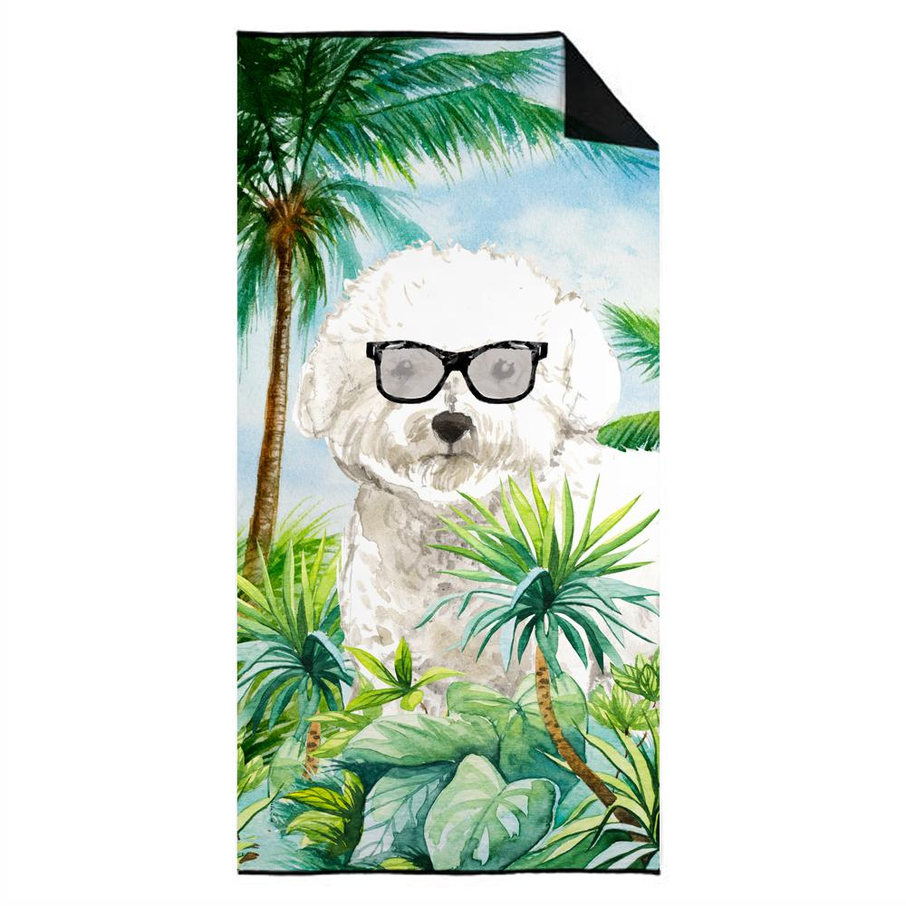 Buy this Bichon Frise Premium Beach Towel CK3024TWL3060