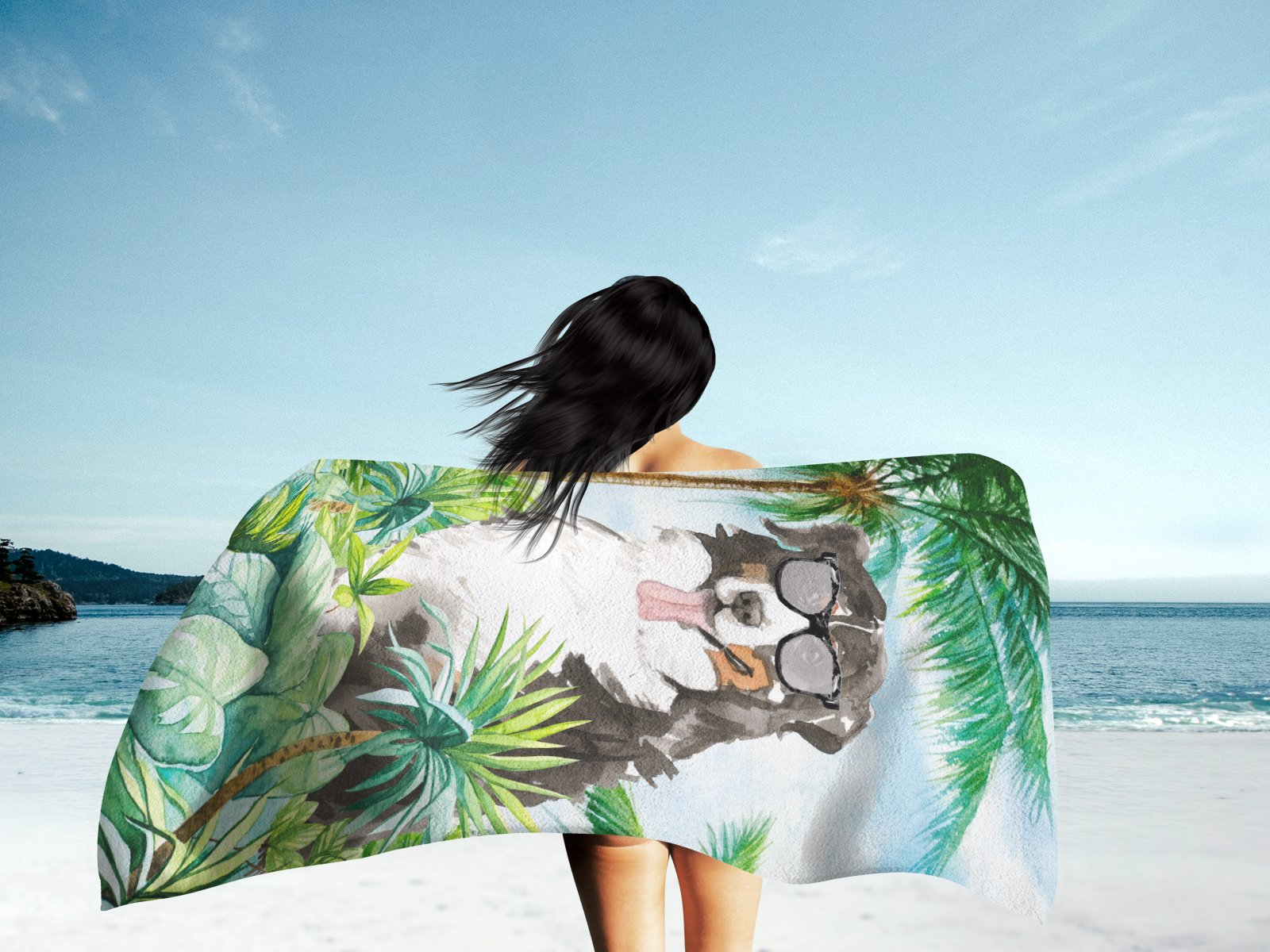 Bernese Mountain Dog Premium Beach Towel CK3025TWL3060 by Caroline's Treasures