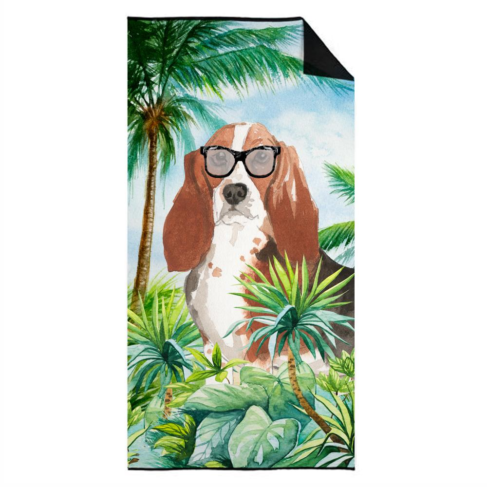 Buy this Basset Hound Premium Beach Towel CK3026TWL3060