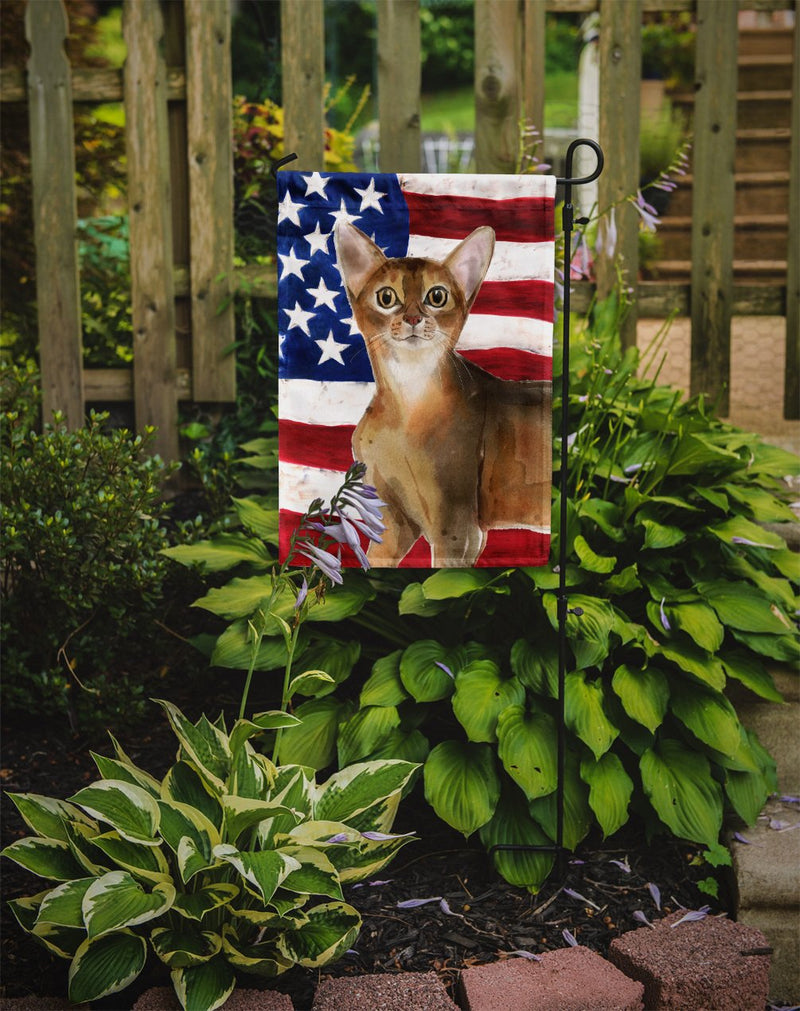 Buy this Abyssinian American Flag Flag Garden Size CK3027GF