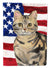 Buy this American Shorthair Brown Tabby American Flag Flag Garden Size CK3028GF