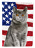 Buy this British Shorthair American Flag Flag Garden Size CK3033GF