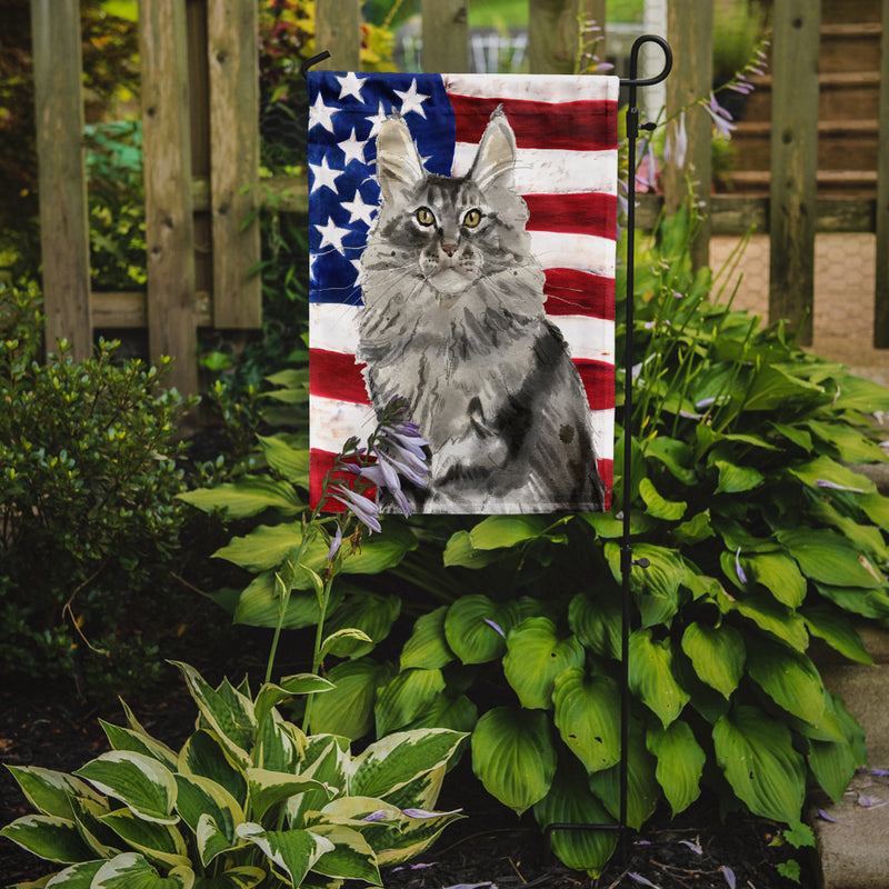 Buy this Maine Coon American Flag Flag Garden Size CK3034GF