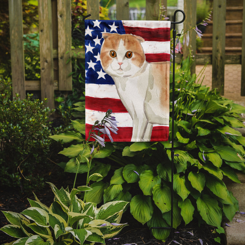 Buy this Scottish Fold American Flag Flag Garden Size CK3038GF