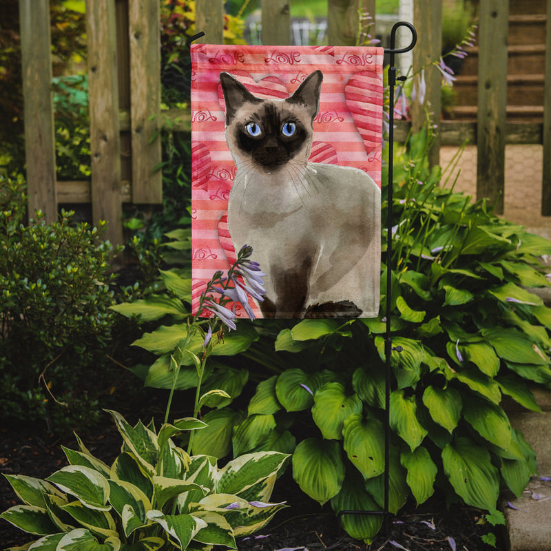 Buy this Siamese Cat Love Flag Garden Size CK3054GF