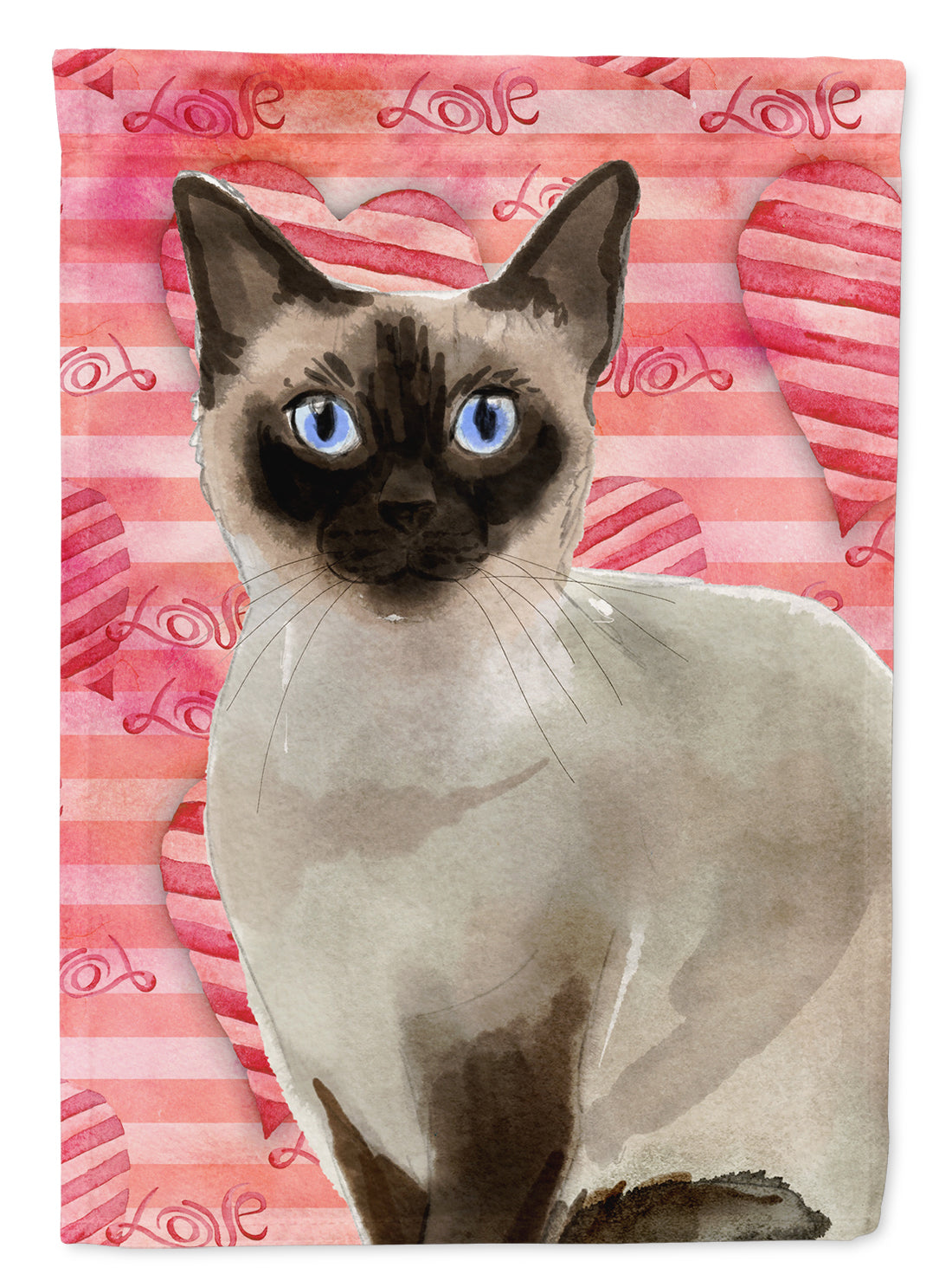Siamese Cat Love Flag Garden Size CK3054GF by Caroline's Treasures