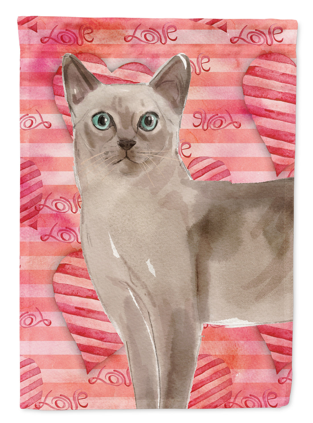 Buy this Tonkinese Cat Love Flag Garden Size CK3056GF