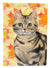 Buy this American Shorthair Brown Tabby Fall Leaves Flag Garden Size CK3073GF