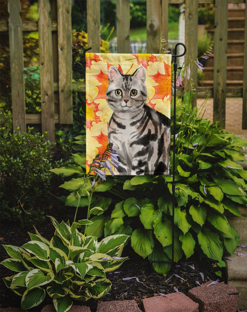 Buy this American Shorthair Fall Leaves Flag Garden Size CK3074GF