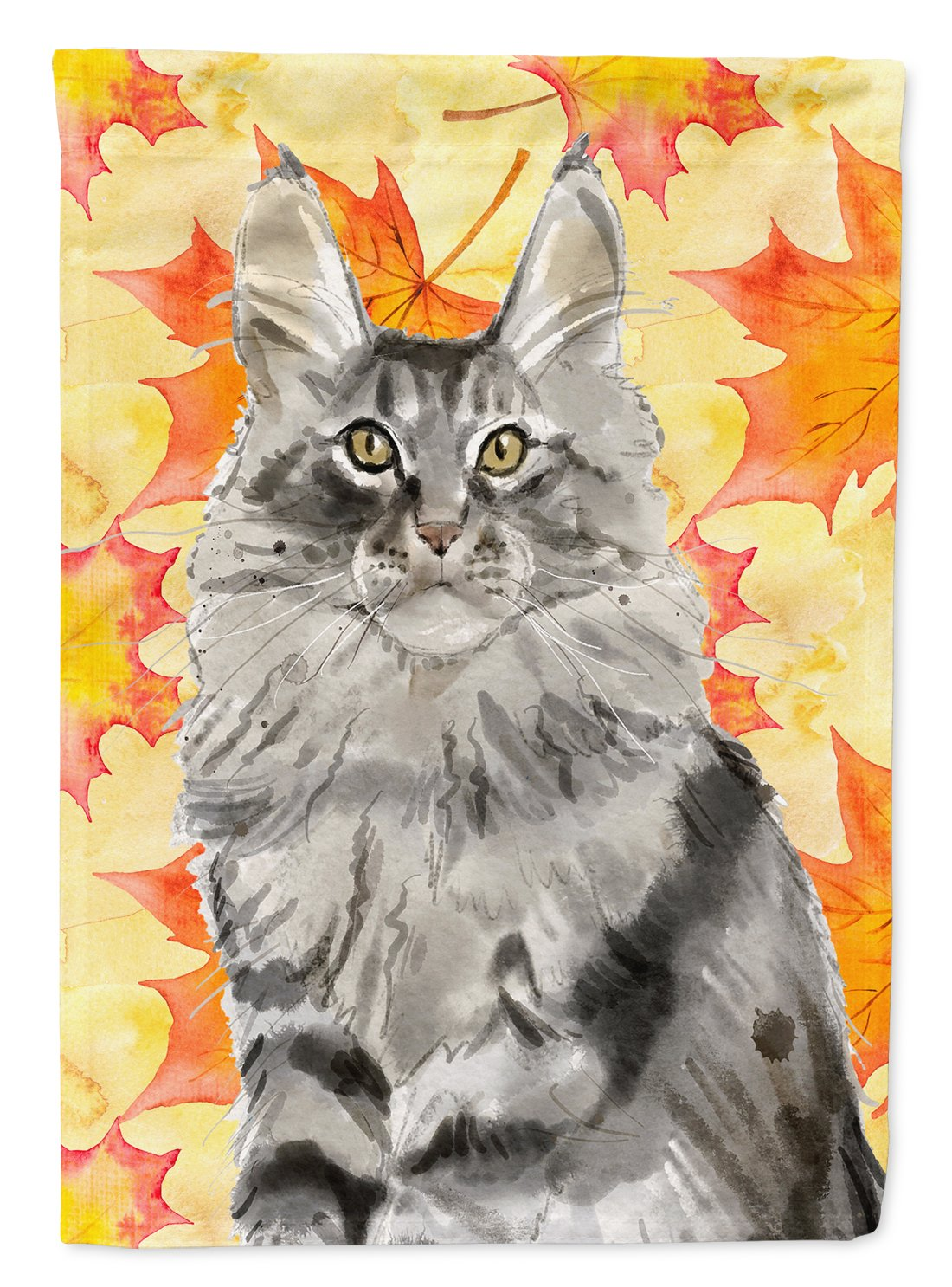Maine Coon Fall Leaves Flag Garden Size CK3079GF by Caroline's Treasures