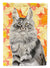 Buy this Maine Coon Fall Leaves Flag Garden Size CK3079GF
