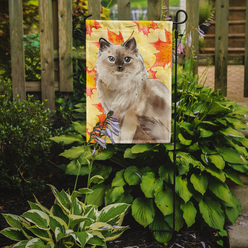 Buy this Ragdoll Fall Leaves Flag Garden Size CK3082GF