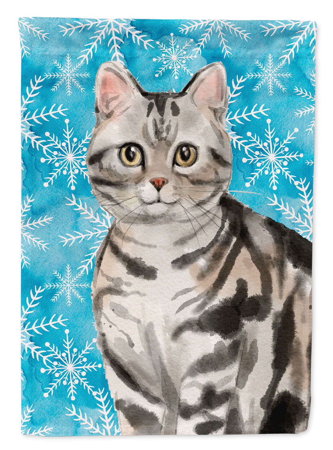 American Shorthair Winter Snowflake Flag Garden Size CK3104GF by Caroline's Treasures