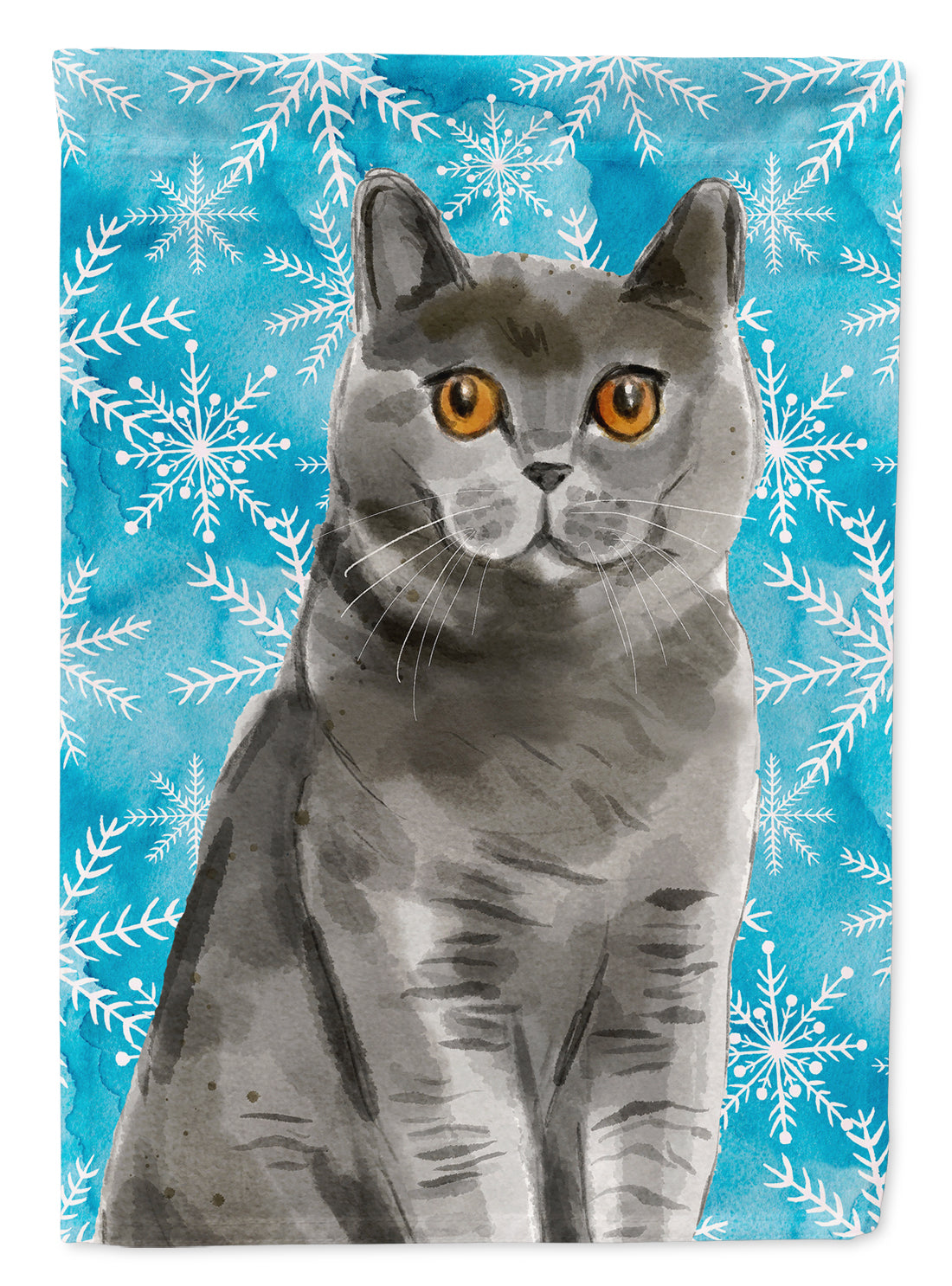British Shorthair Winter Snowflake Flag Garden Size CK3108GF by Caroline's Treasures